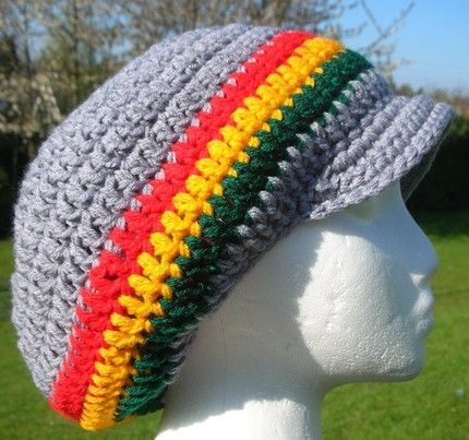 RASTAFARIAN TAM CROCHET PATTERN Free Crochet Patterns Crochet Interesting Rasta Hat Crochet Pattern