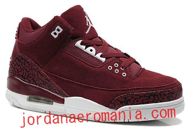 Air Jordan 3(III) Suede Burgundy Cement