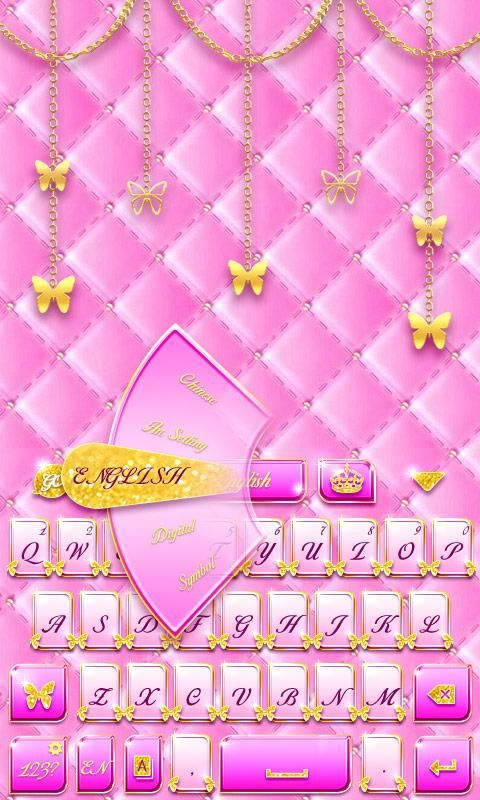 Pink Gold Go Keyboard Theme Apk Download Free Personalization App For Pink And Gold Android Theme Pink