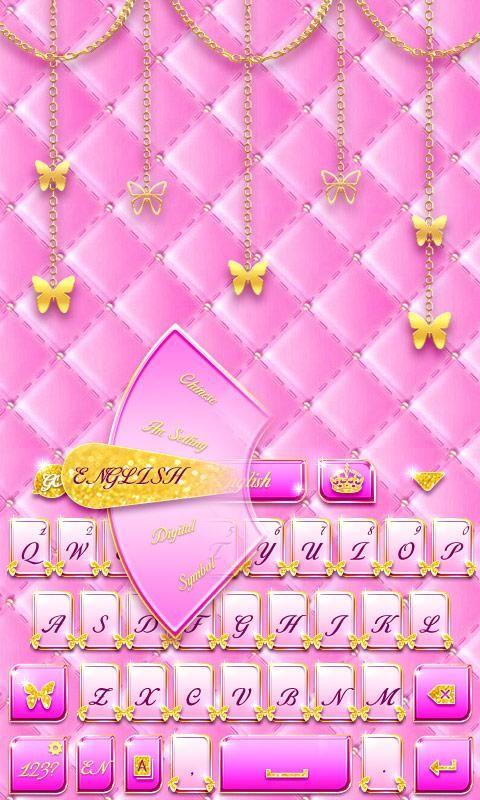 Pink Gold GO Keyboard Theme APK Download - Free