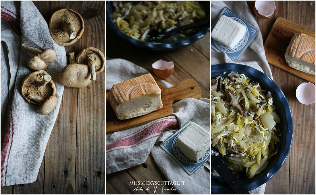 leek mushroom fennel galette