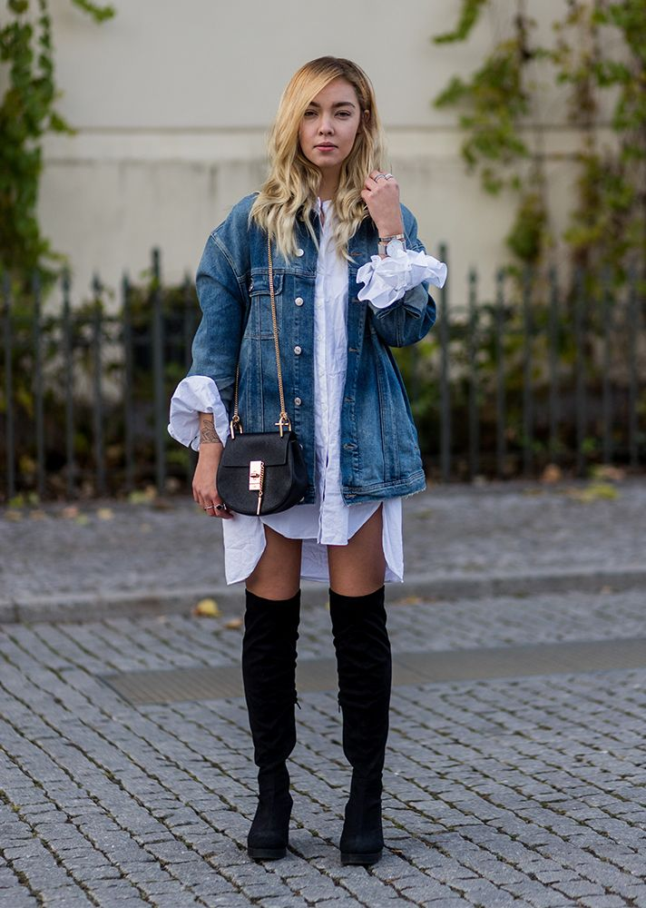35d1c70f77 51 Ways to Wear Your Favorite Jean Jacket All Year Long  RueNow