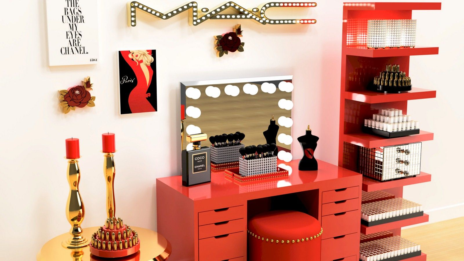 DOWNLOAD The Beauty Room LOOK BOOK For GLAM Home Décor And Makeup Organization images