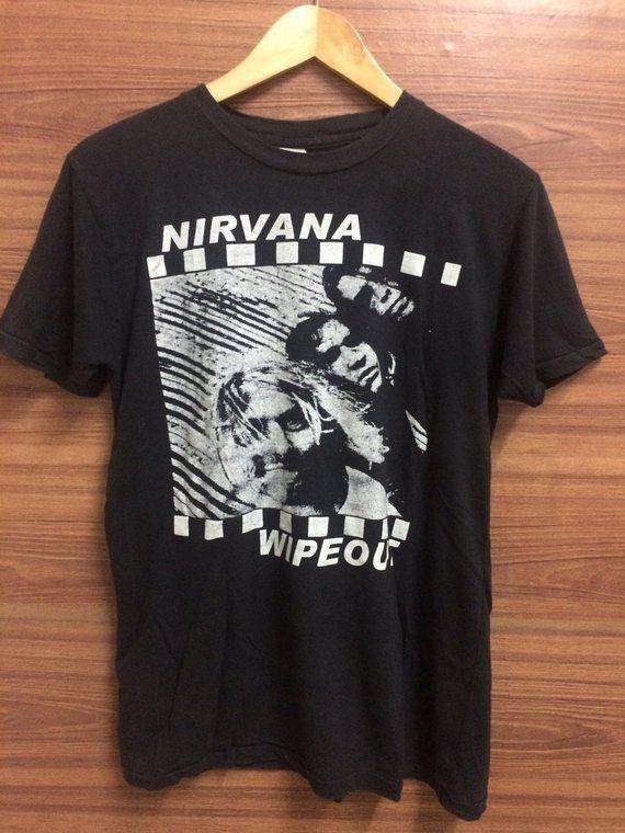 19edd3b07 RARE Vintage Bootlegs Nirvana WIPEOUT Unreleased Studio Sessions shirt