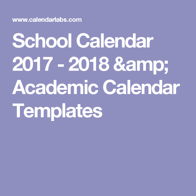 School Calendar     Academic Calendar Templates  Hs