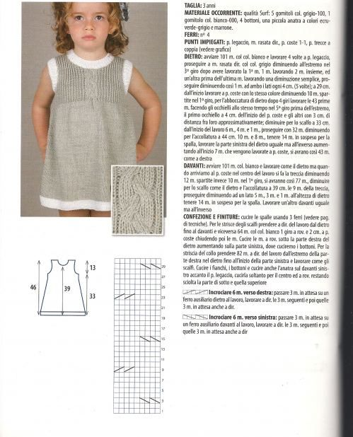 knit dress pattern | Vestidos tricot y crochet ninñas | Pinterest ...
