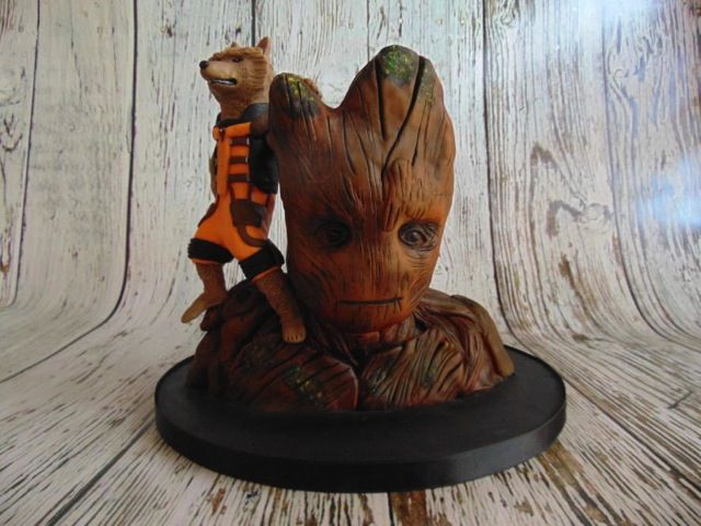 Groot And Rocket Raccoon Birthday Cake made by For The Love Of Cake