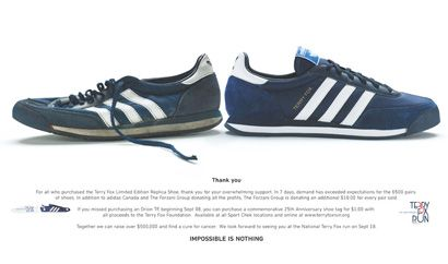 Adidas Terry Fox Trainers | Vintage