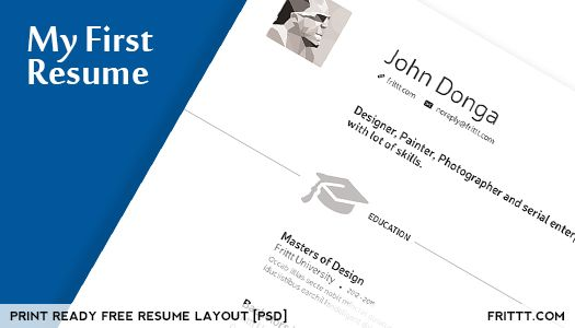 my first resume my resume free resume layout psd free website 14316 | f666125411496fc769cb8e46561806d9