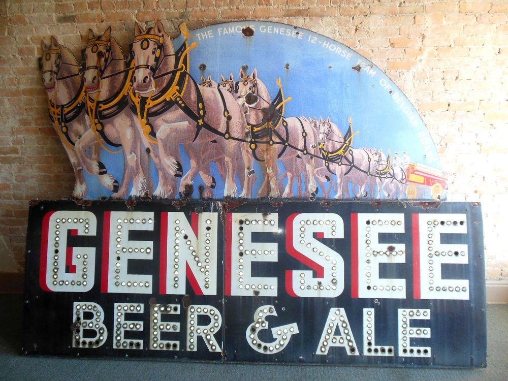 Vintage 1934 Rare Genesee Beer 12 Horse Ale 10