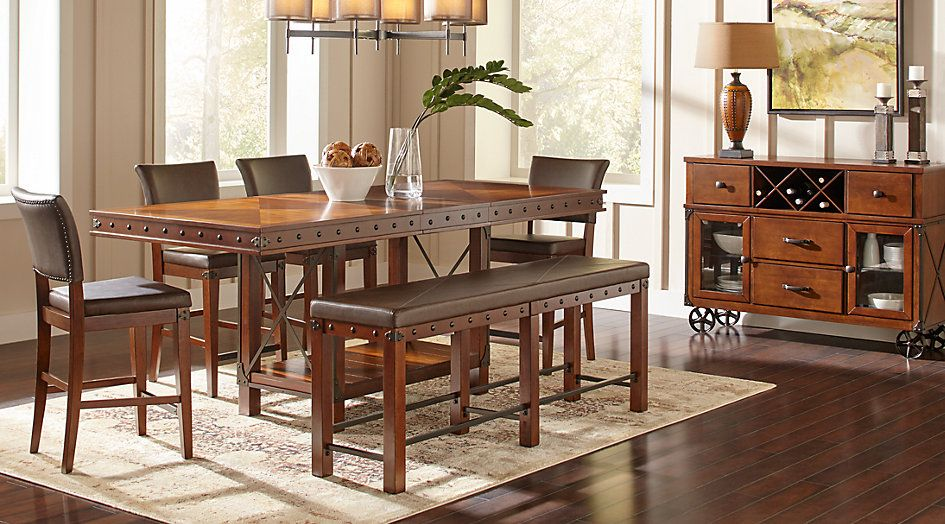 Red Hook Pecan 3 Pc Counter Height