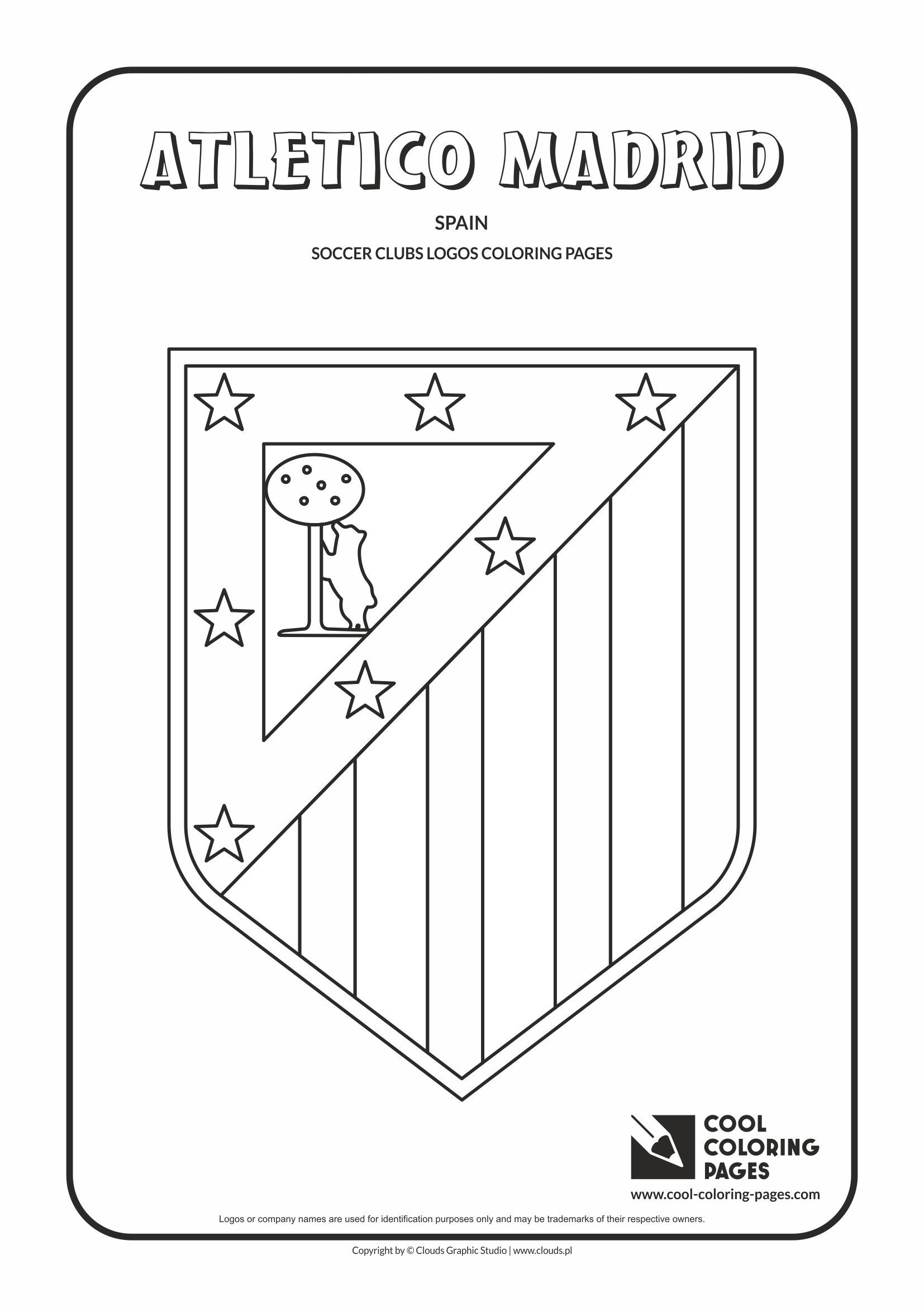 Atletico Madrid Logo Coloring Coloring Page With