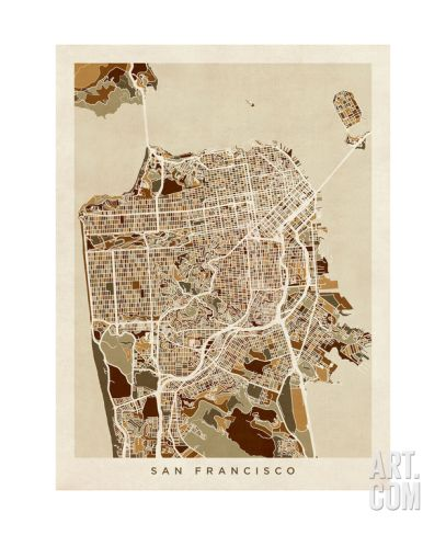 San Francisco City Street Map City streets San francisco and