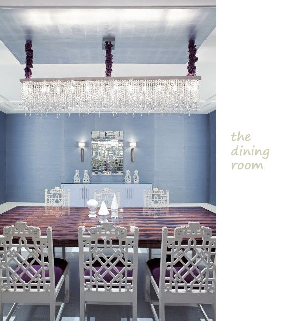 Casual Dining Room Chandeliers: Something Really Beautiful About This Chic Blue White