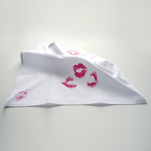 Smooches Handkerchief now featured on Fab.