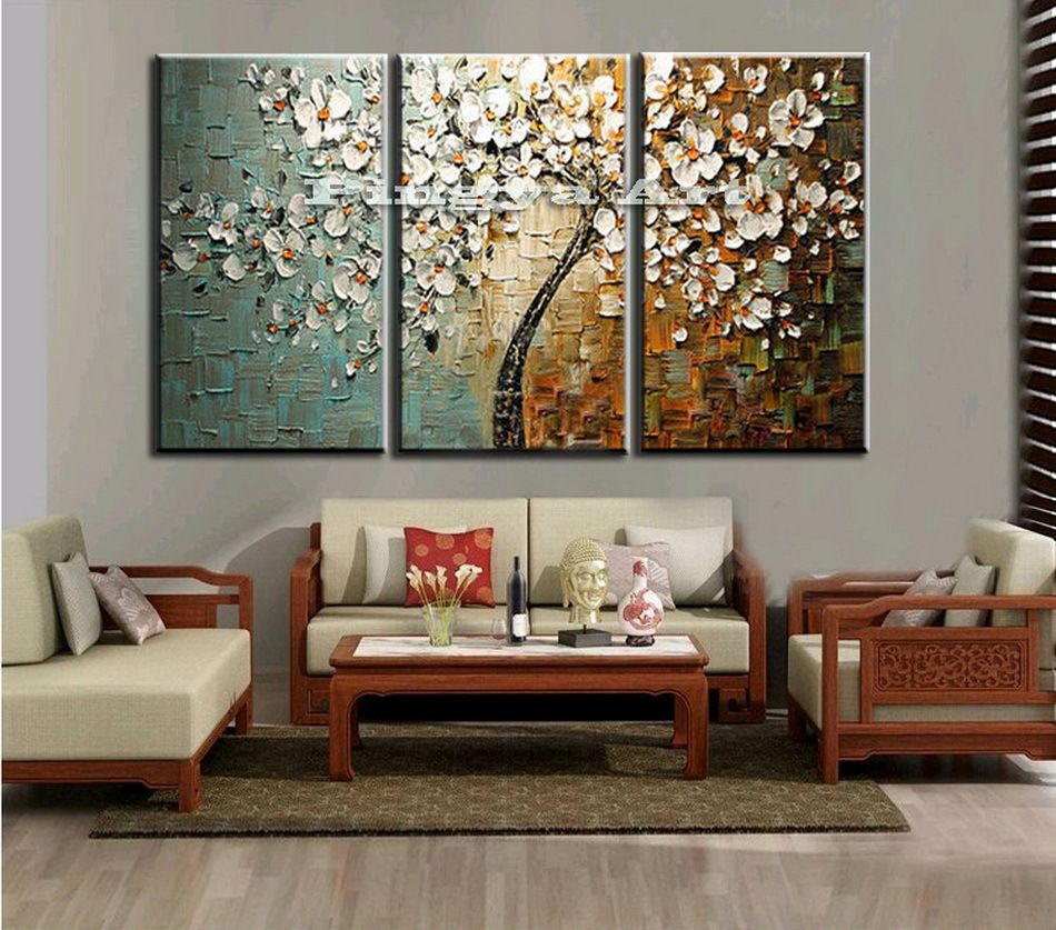 cheap wall pictures for living room 3 panel abstract wall cheap modern handmade tree 24921