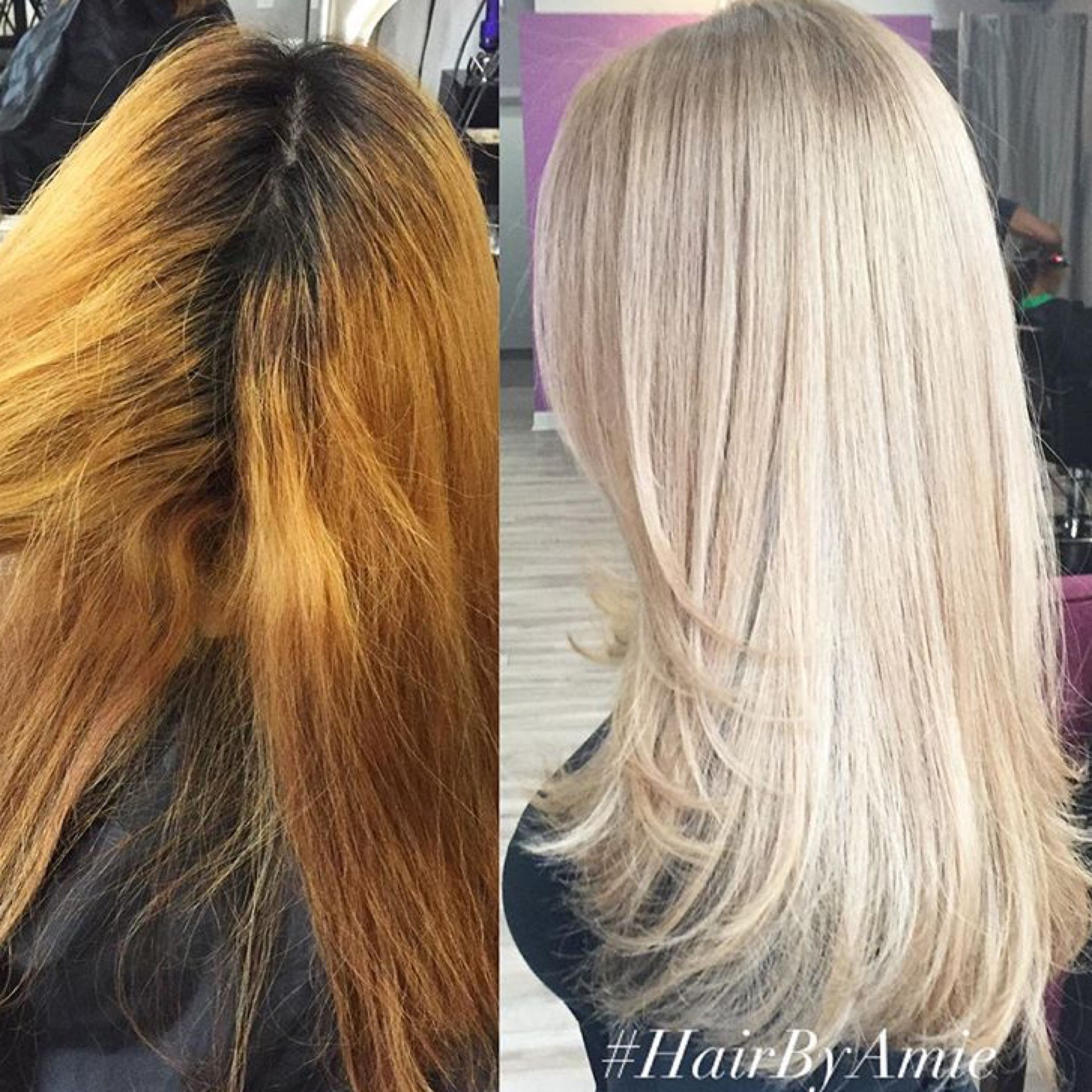 Color Correction Brassy Mess To Level 10 Platinum