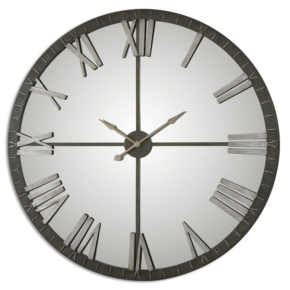 Americanlightingstore Amelie 60 Large Round Wall Clock Mirror Wall Clock Oversized Wall Clock Large Wall Clock