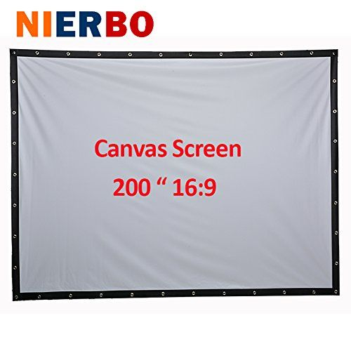 200 Inches Portable Screen Canvas Large 3D Film Video Cinema