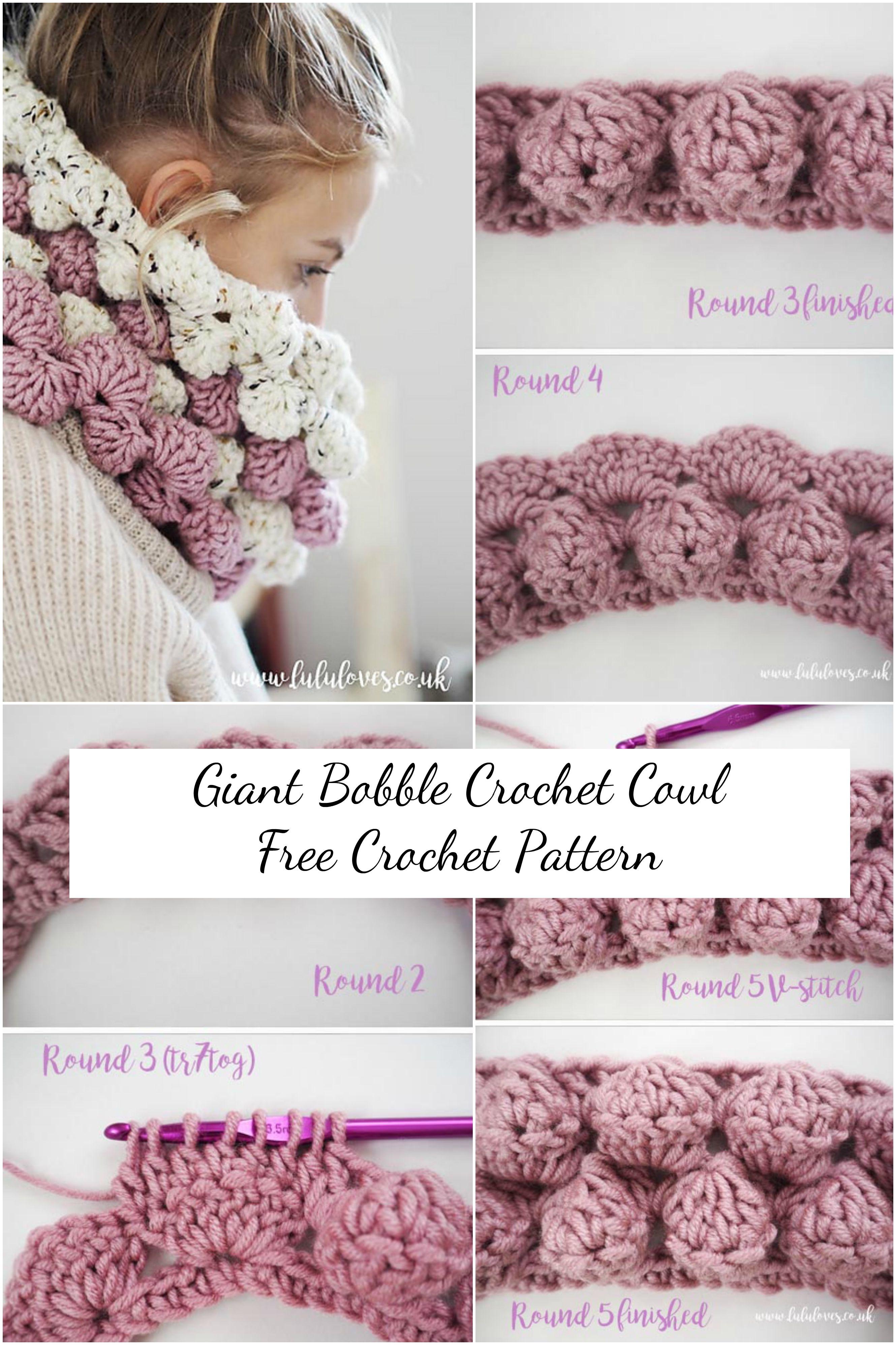 Giant Bobble Cowl Crochet Pattern | Anleitung stricken, Amigurumi ...