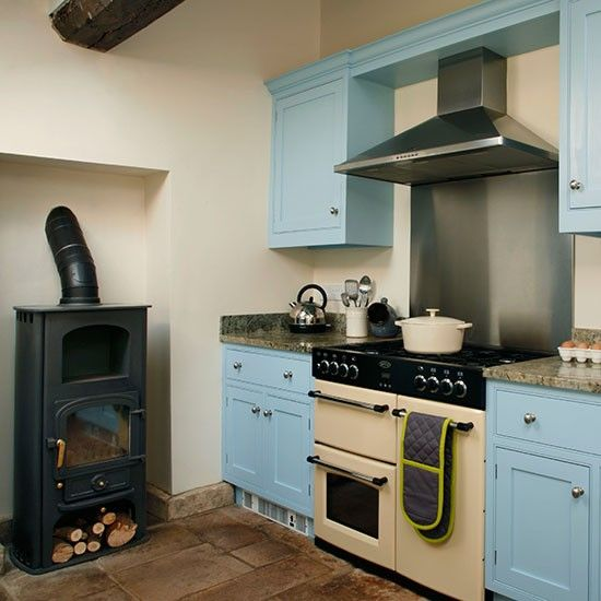 Blue And Cream Kitchen With Range Cooker | Kitchen Decorating |  Housetohome.co.uk