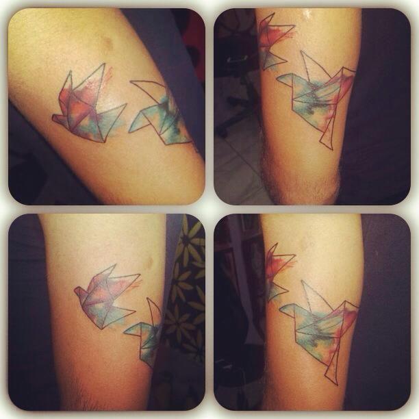 http://tattoo-ideas.us/wp-content/uploads/2014/02/Origami-Birds.jpg Origami Birds #Yourtattoos