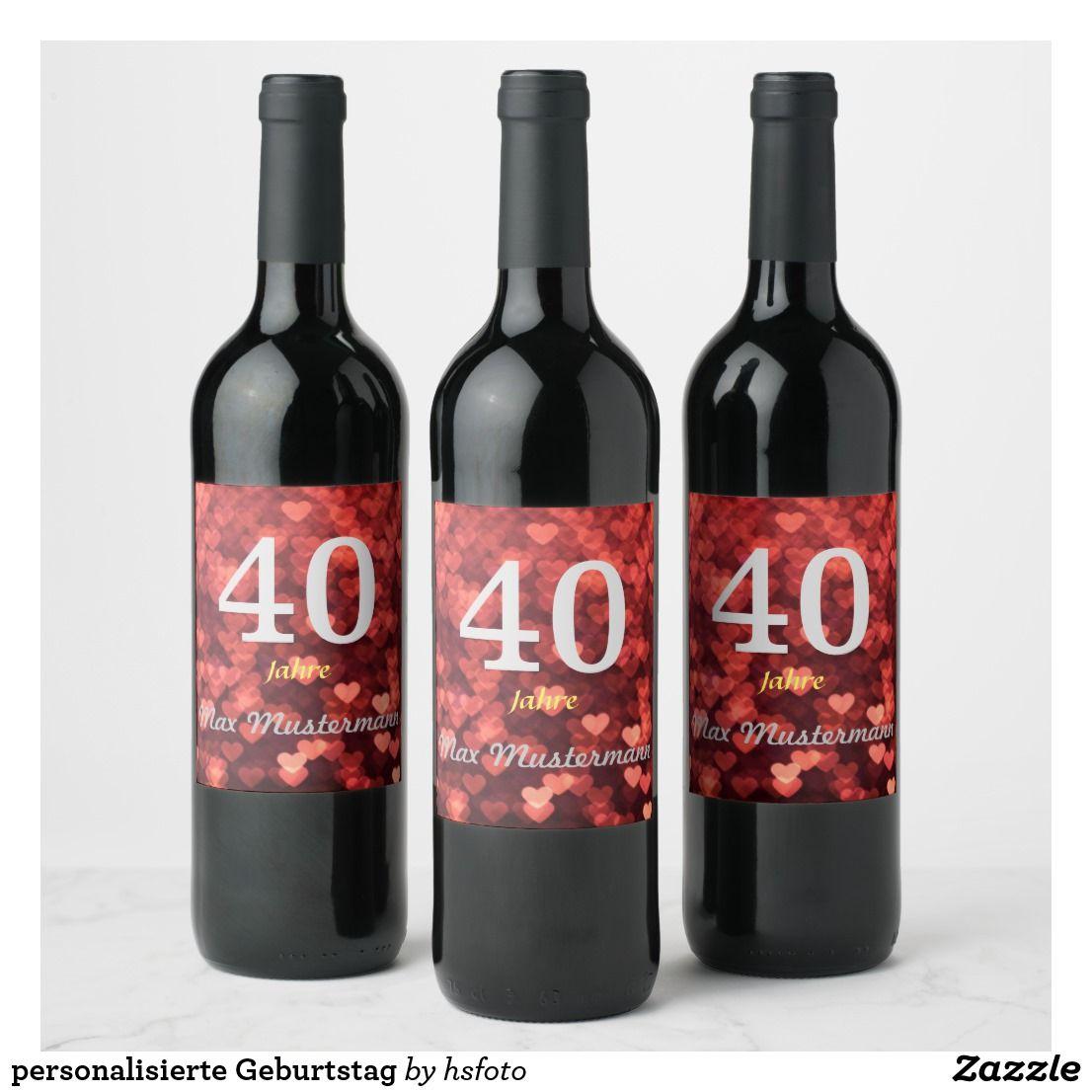 Personalized Birthday Wine Label Zazzle Com Personalized Birthday Wine Labels Birthday Wine Label Birthday Wine