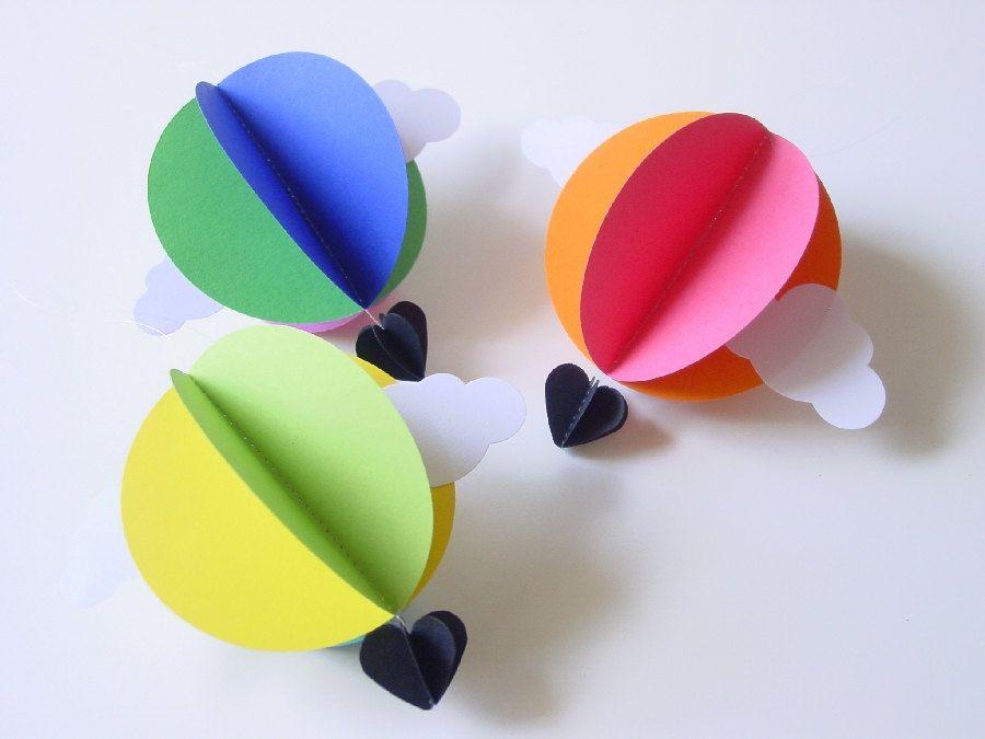 La d couverte etsy du mercredi guirlande b b en papier montgolfi re deco en papier - Montgolfiere en papier ...