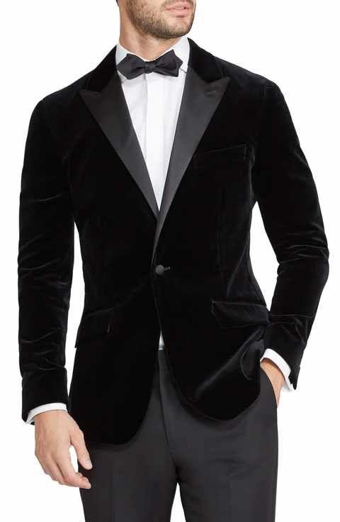 14214aee2 Bonobos Jetsetter Trim Fit Stretch Velvet Dinner Jacket | Men Dress ...