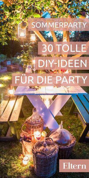 30 kunterbunte Ideen für eine fröhliche Sommerparty Partyideen