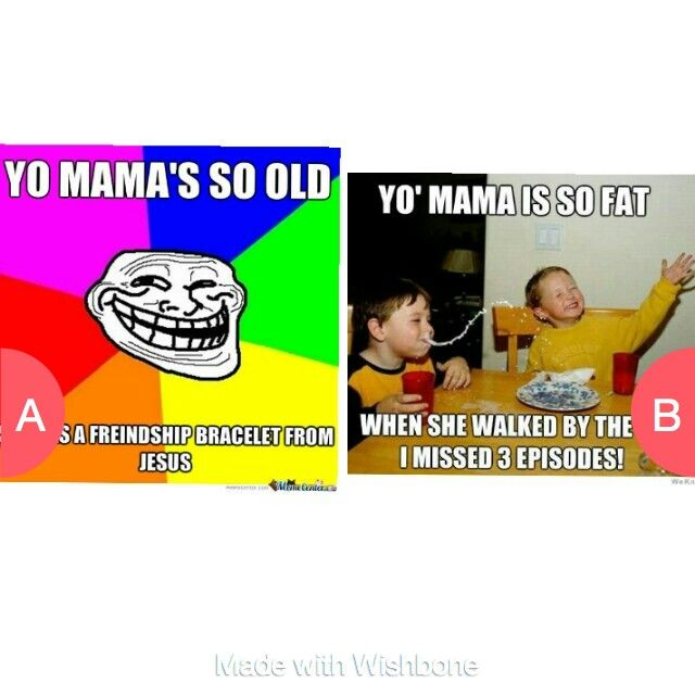 Which one? Comment A or B