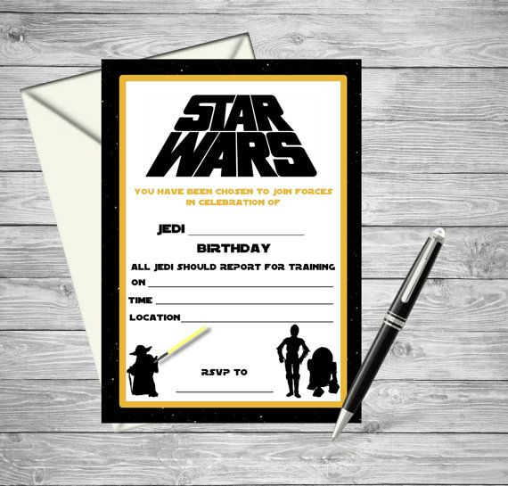 Star Wars Printable Birthday Invitation