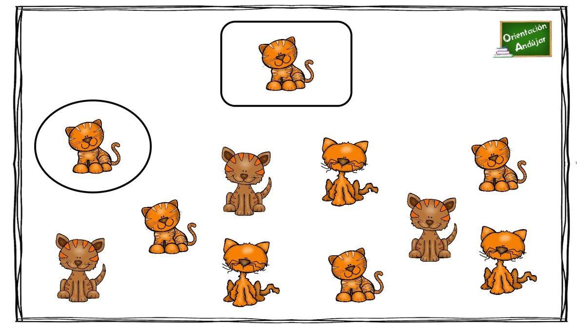 Atencion Y Agudeza Visual Rodea Los Dibujos Iguales Al Modelo Tdah Agudeza Visual Dibujos Juegos De Percepcion