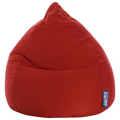 Freeport Park Microfiber Fabric Bean Bag Chair Upholstery: Red
