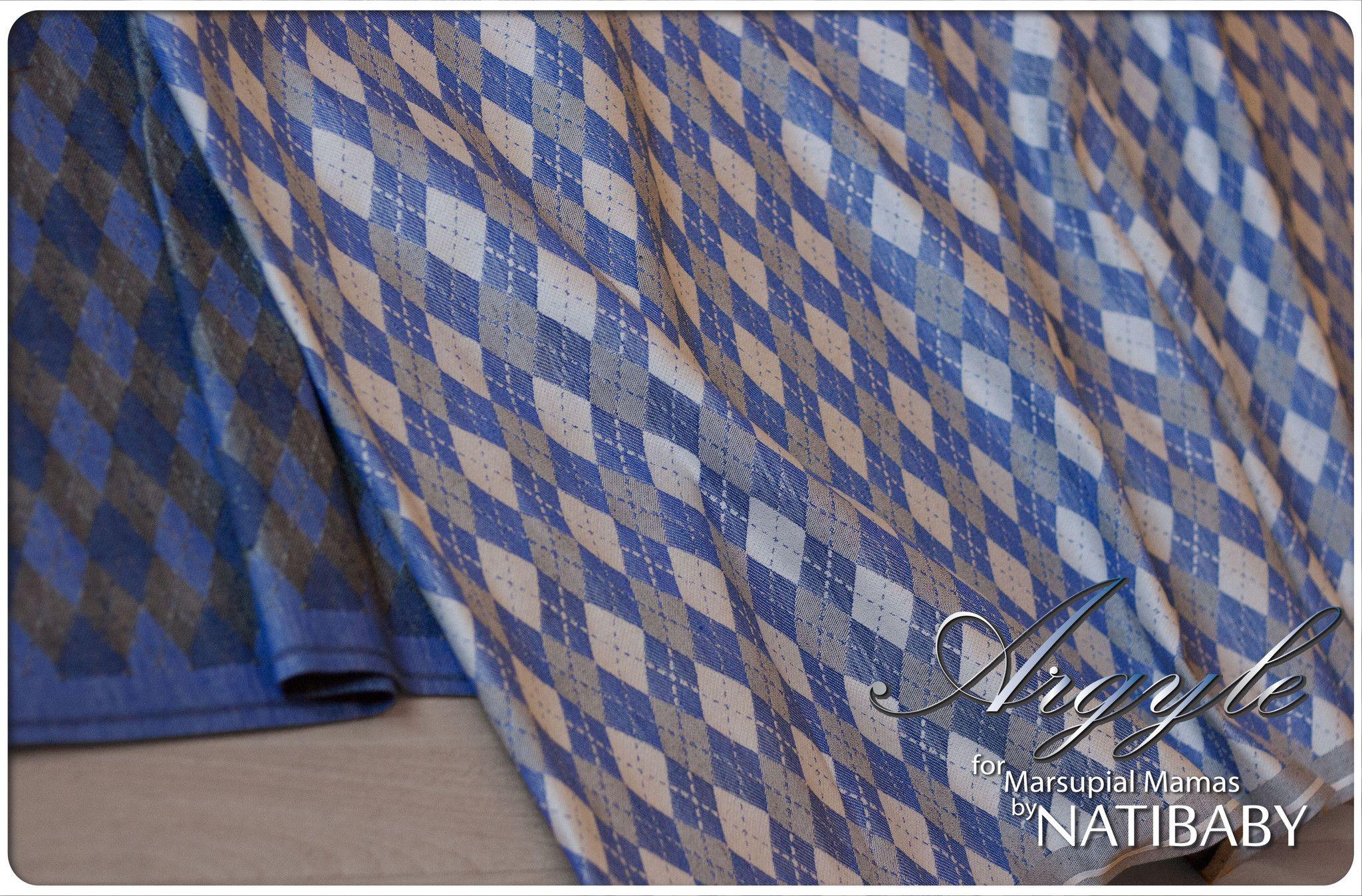 Marsupial Mamas Exclusive: Natibaby Argyle Blue (Hemp Blend) - Marsupial Mamas, LLC