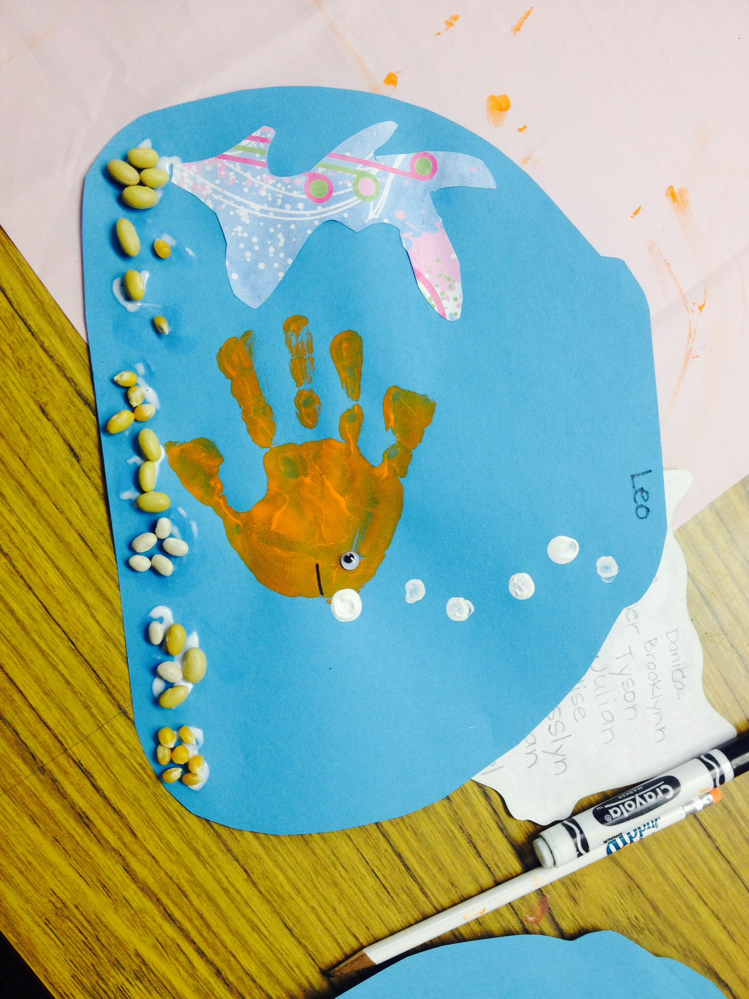 Handprint Fish Bowl Summer Art Project Ocean Theme Craft Under The Sea Could Use Multiple