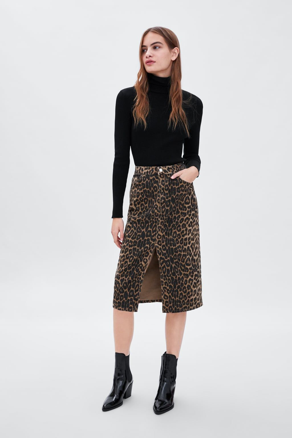 b23291535b FALDA ESTAMPADO ANIMAL | Clothes I like | Leopard print skirt ...