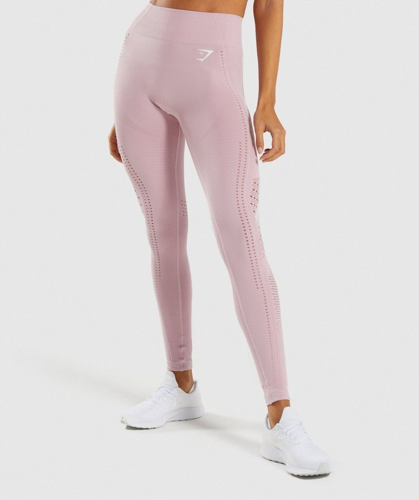 431067800e795 Gymshark Flawless Knit Tights - Washed Lavender | New Releases | Gymshark
