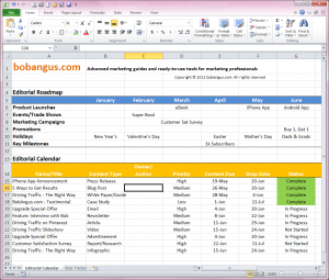 EditorialCalendarSample  Editorial Content Calendar Templates