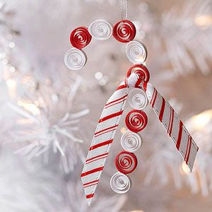 Candy Cane Christmas Decorations Quilled Candy Cane Christmas Ornament For Kids  Candy Canes