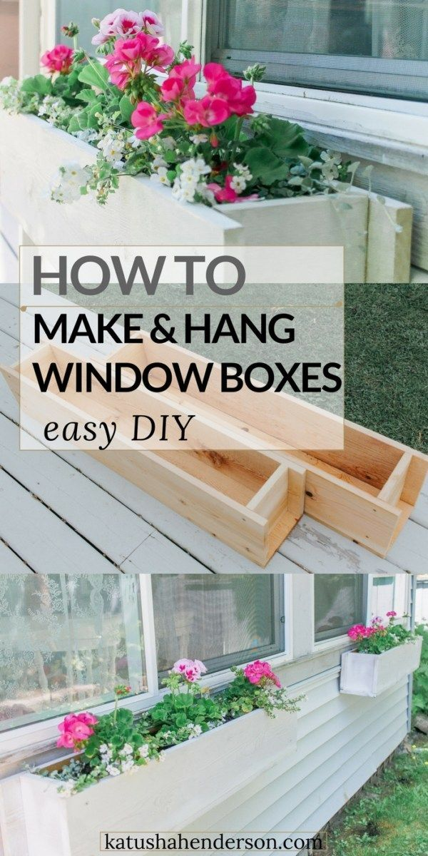 How To Build A Window Box Planter Tutorial Diy Window Planter