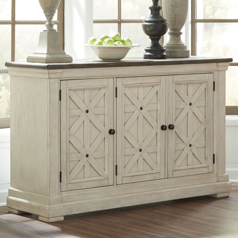 Bolanburg White Farmhouse Dining Server Dining Room Server Dining Room Storage Dining Room Essentials