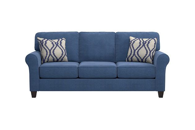 Aldy Sofa And Pillows By Ashley Home Blue