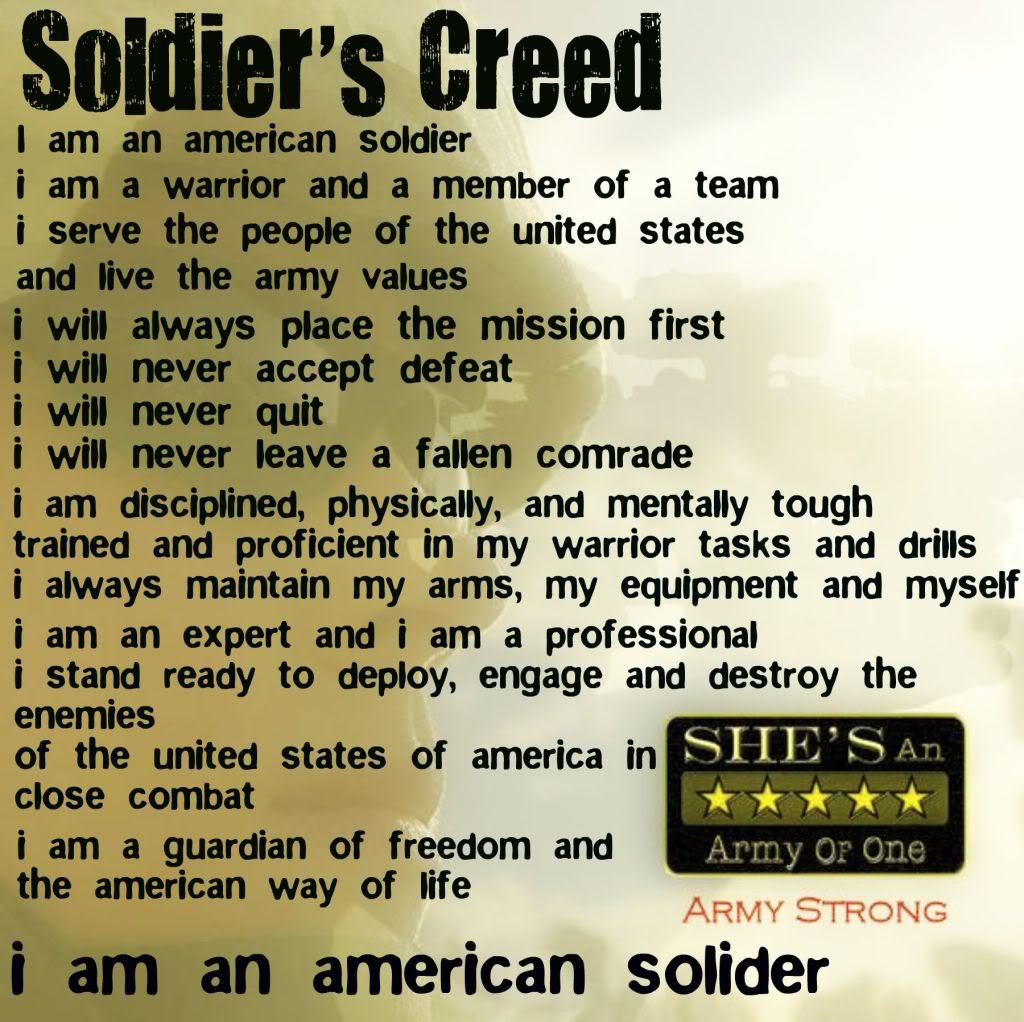 Memorial Day Christian Inspirational Quotes: Soldier Quotes Soldier's Creed Image