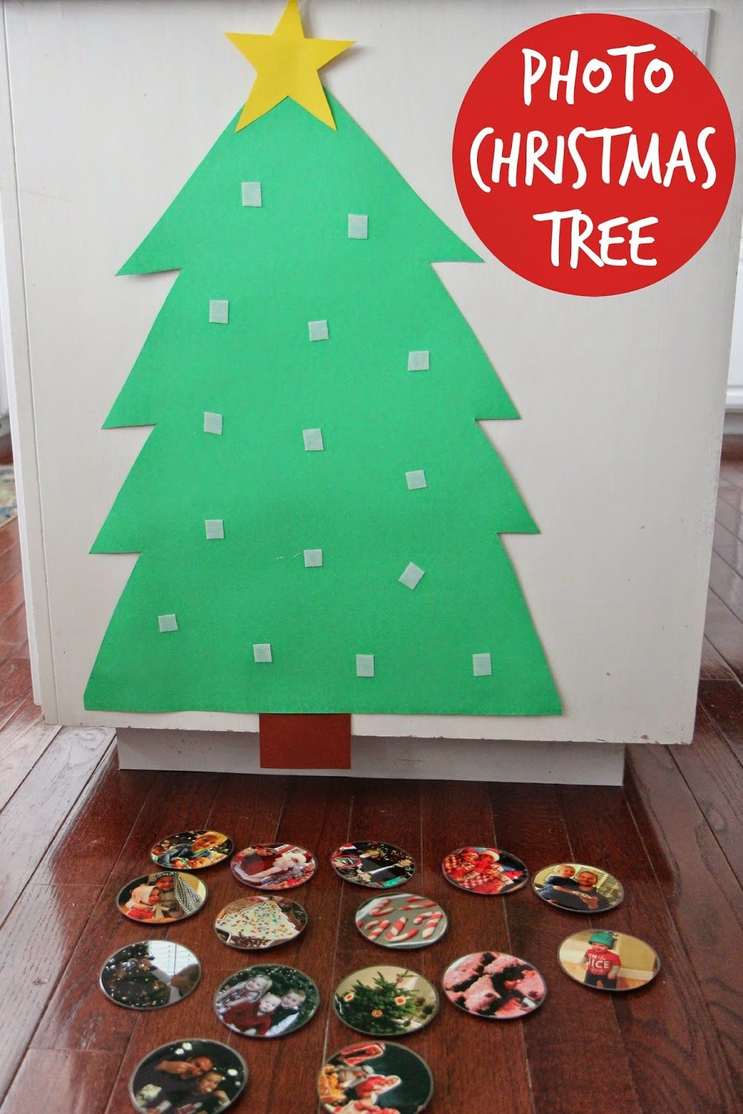 Build a Photo Christmas Tree for Babies