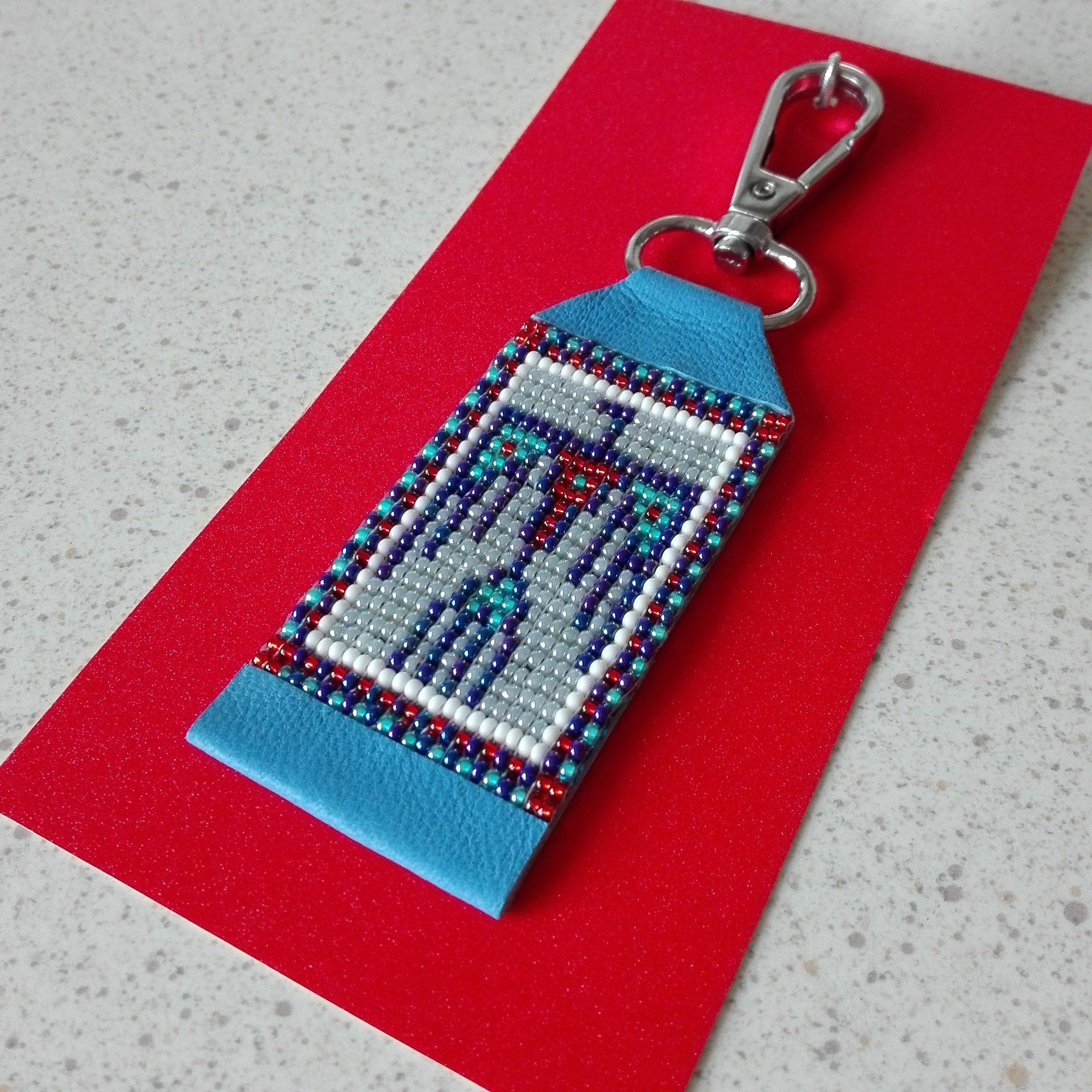 THUNDERBIRD KEYCHAIN/Native American Keychain/Thunderbird Boho Keychain/Thunderbird Key Ring/Car Key Accessories/Blue Thunderbird