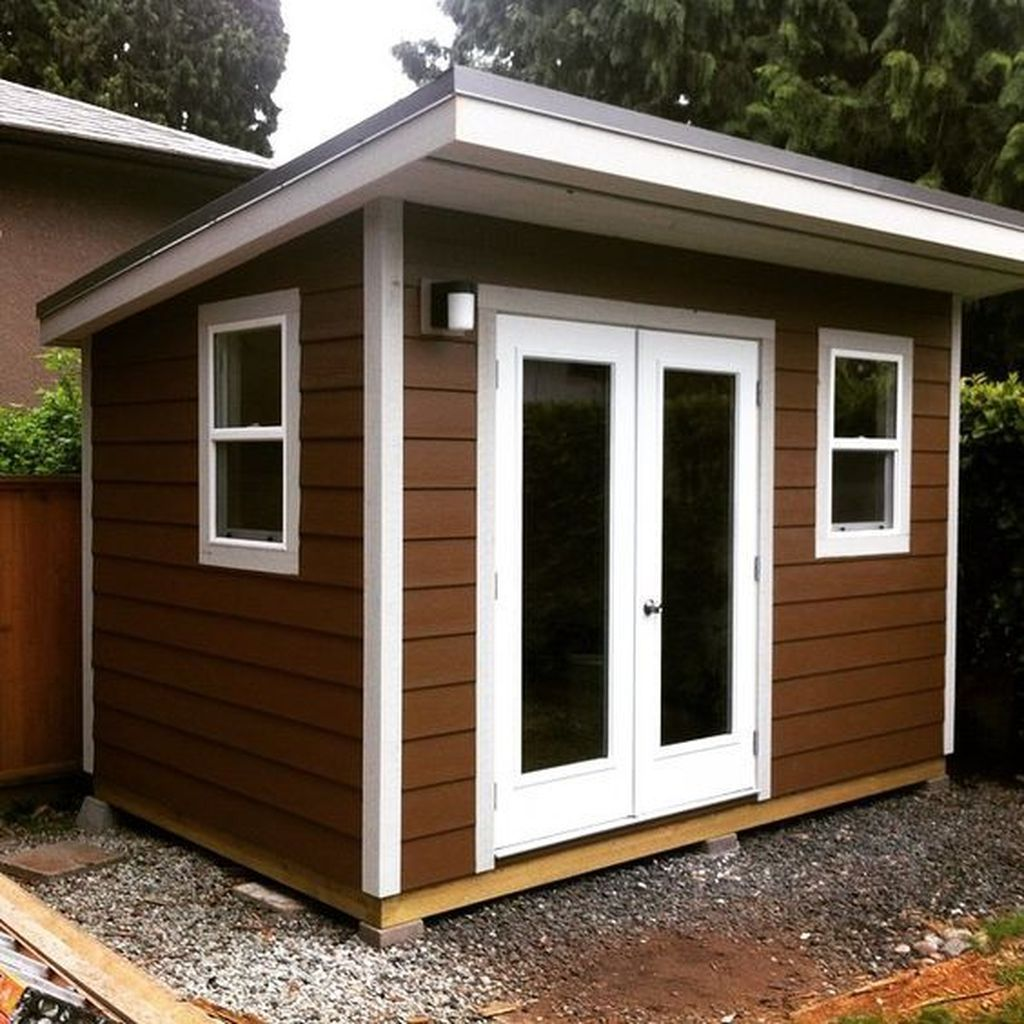 Awesome 48 Amazing Backyard Studio Shed Design. More At
