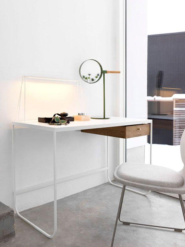 Asplund Furniture, TATI desk, MEMIRROR table Sense of Space collection 2013