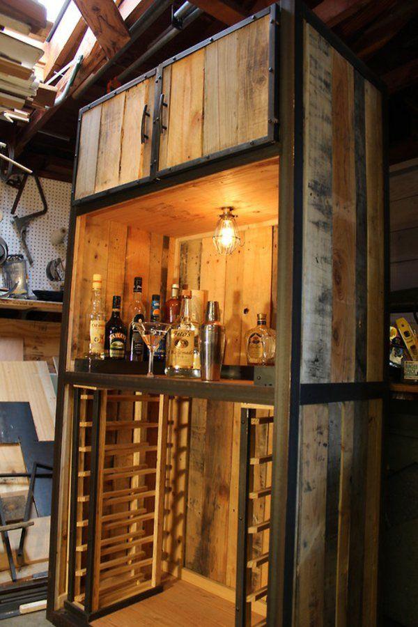 Möbel aus alten holzpaletten  DIY Möbel aus alten Paletten getränke bar | Westwind | Pinterest ...