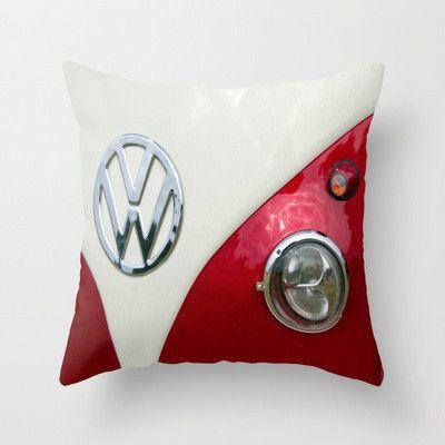 VW T2 Split Screen Throw Pillow by